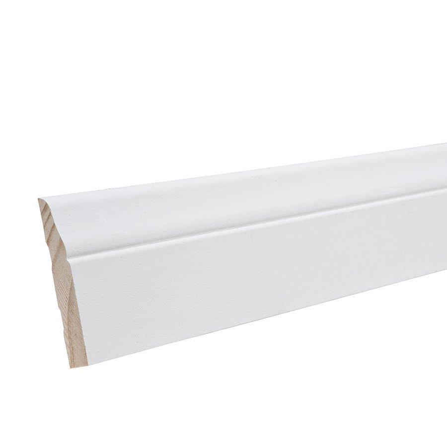 2.5-in x 16-ft Interior Pine Primed Baseboard Moulding