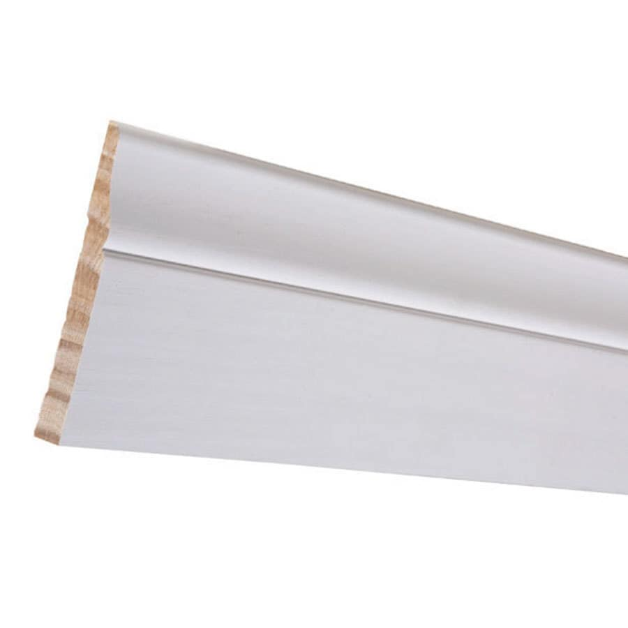 3.5-in x 16-ft Interior Pine Primed Baseboard Moulding
