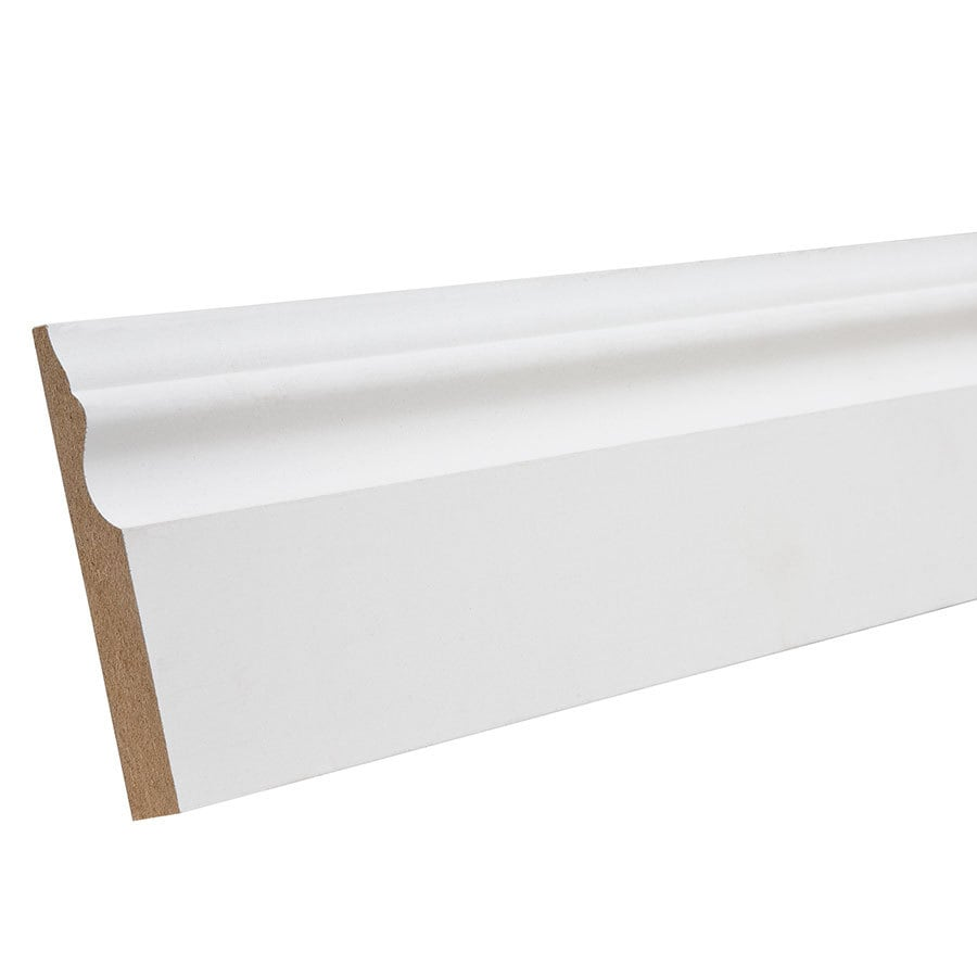 3.25-in x 12-ft Interior Primed Composite Baseboard Moulding