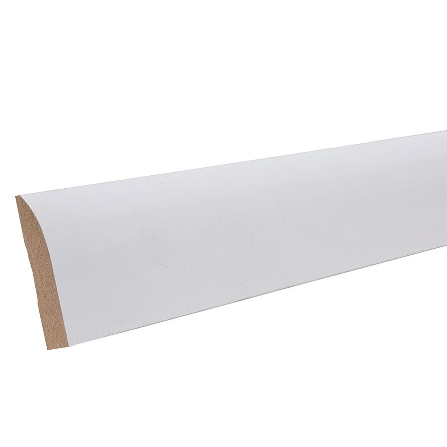 2.25-in x 12-ft Interior Primed MDF Baseboard Moulding