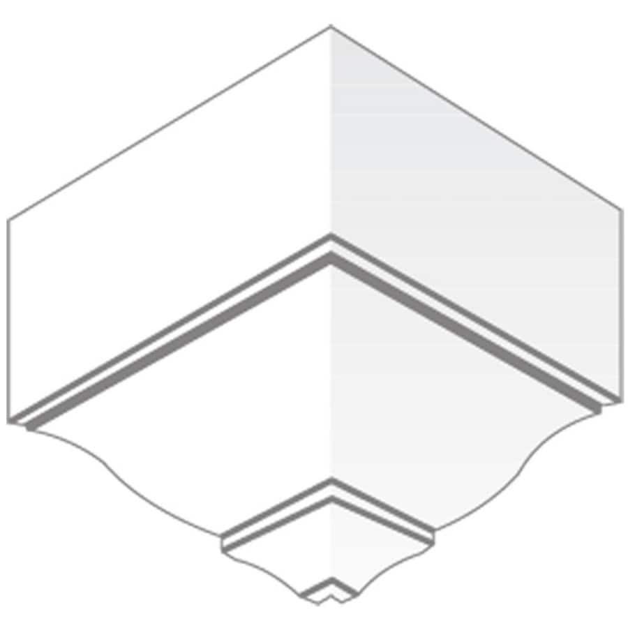 5.5-in x 5.625-in Pine Wood Outside Corner Crown Moulding Block