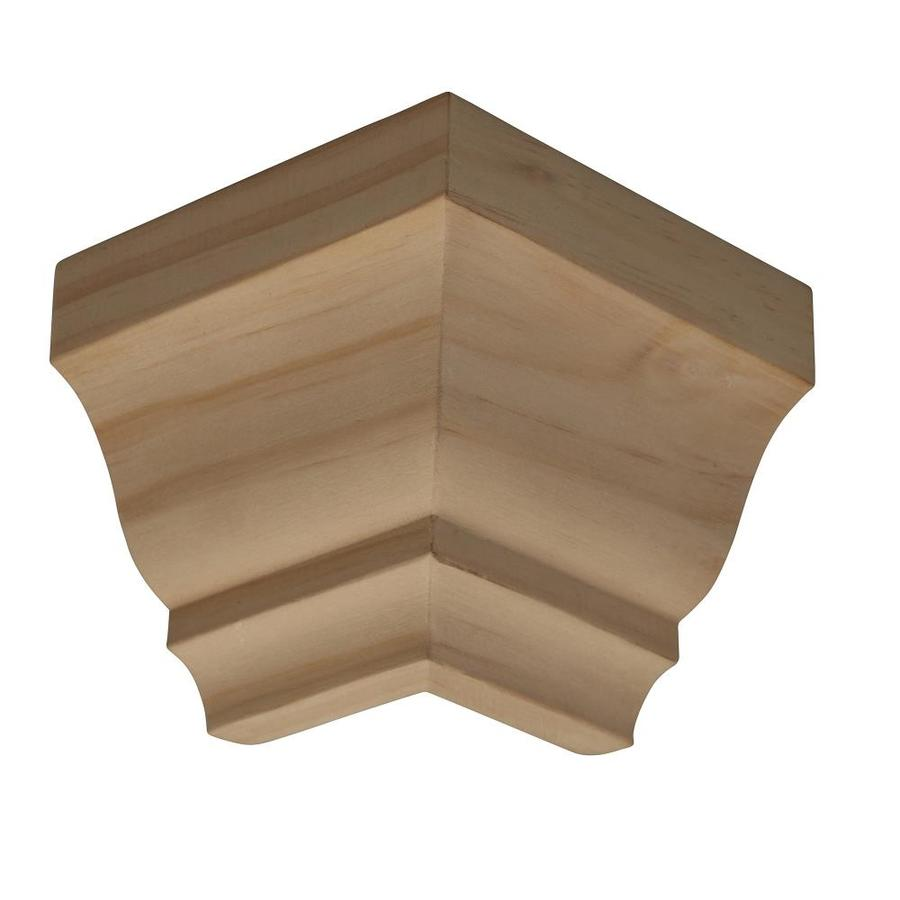 4-in x 4-in Pine Wood Outside Corner Crown Moulding Block