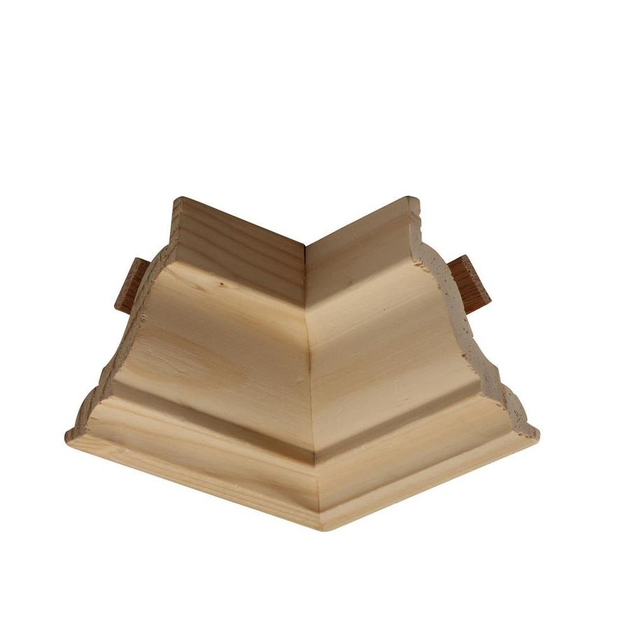 3.5-in x 3.5-in Pine Wood Inside Corner Crown Moulding Block