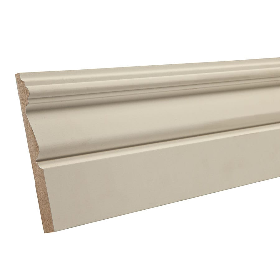4.25-in x 12-ft Interior Primed MDF Baseboard Moulding
