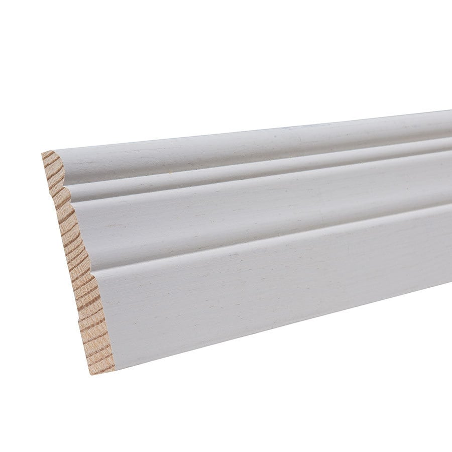3.25-in x 12-ft Interior Pine Primed Baseboard Moulding