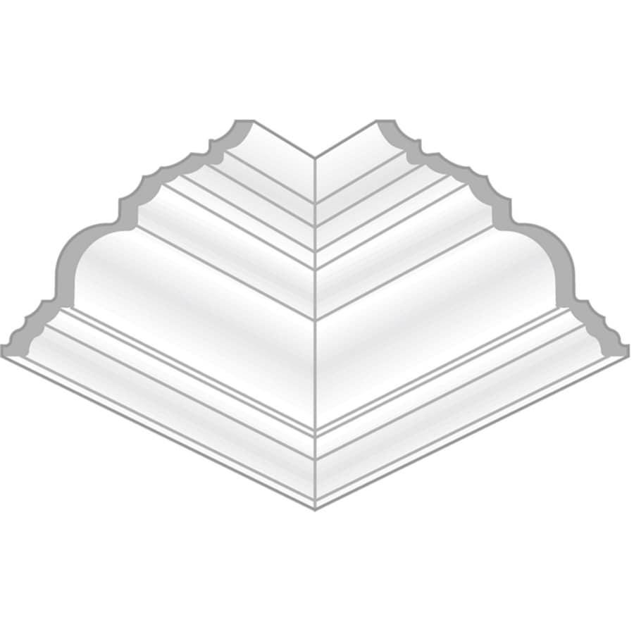 4.625-in x 4.625-in Pine Wood Inside Corner Crown Moulding Block