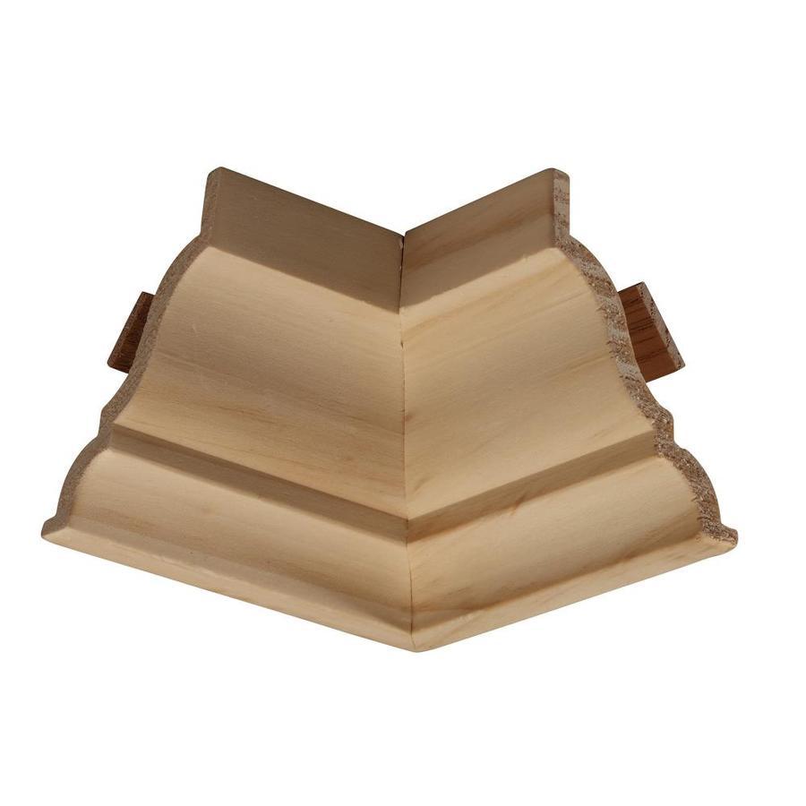 EverTrue 4-in x 4-in Pine Wood Inside Corner Crown Moulding Block