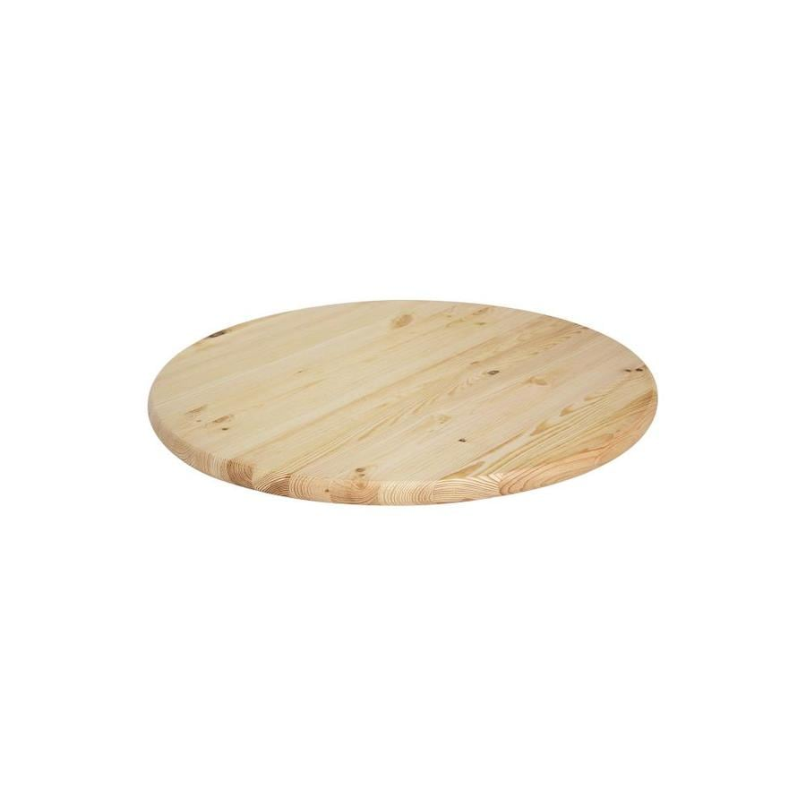 Shop Brown Pine Round End Table Top Actual 1 0638 In X 24 In X