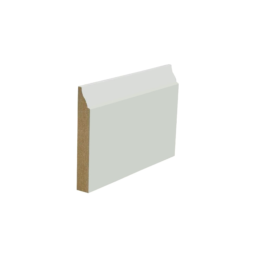 3.25-in x 8-ft Interior Painted MDF Baseboard Moulding