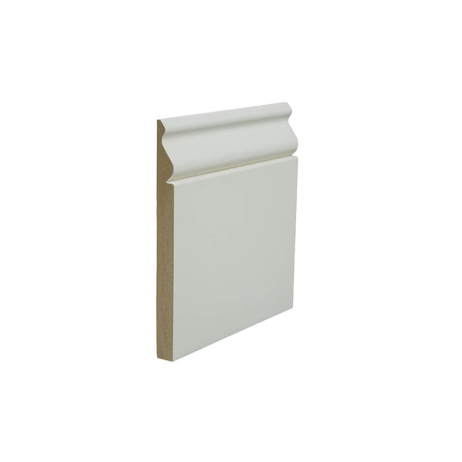5.25-in x 8-ft Interior Painted MDF Baseboard Moulding