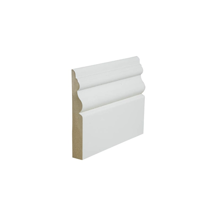 3.875-in x 12-ft Interior Painted MDF Baseboard Moulding