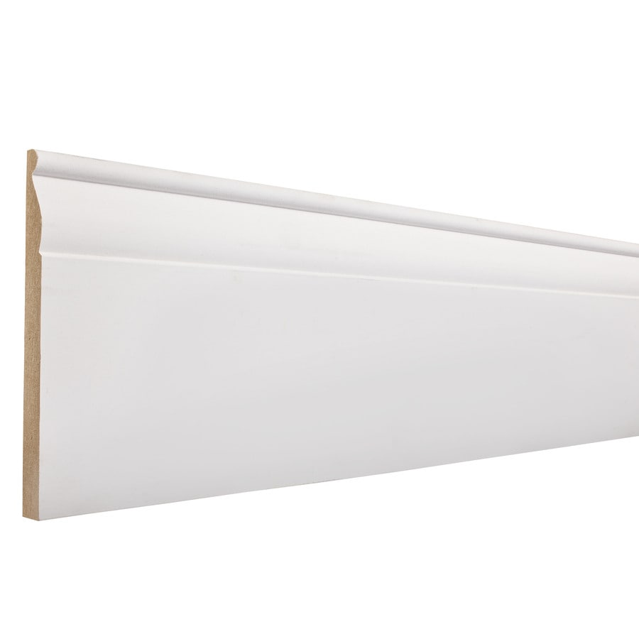 5.25-in x 12-ft Interior Primed MDF Baseboard Moulding