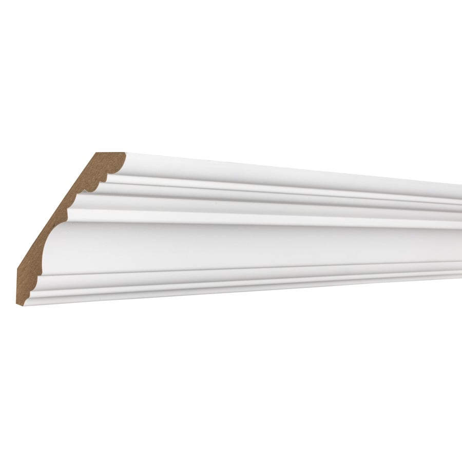 4.1731-in x 12-ft Primed MDF Crown Moulding