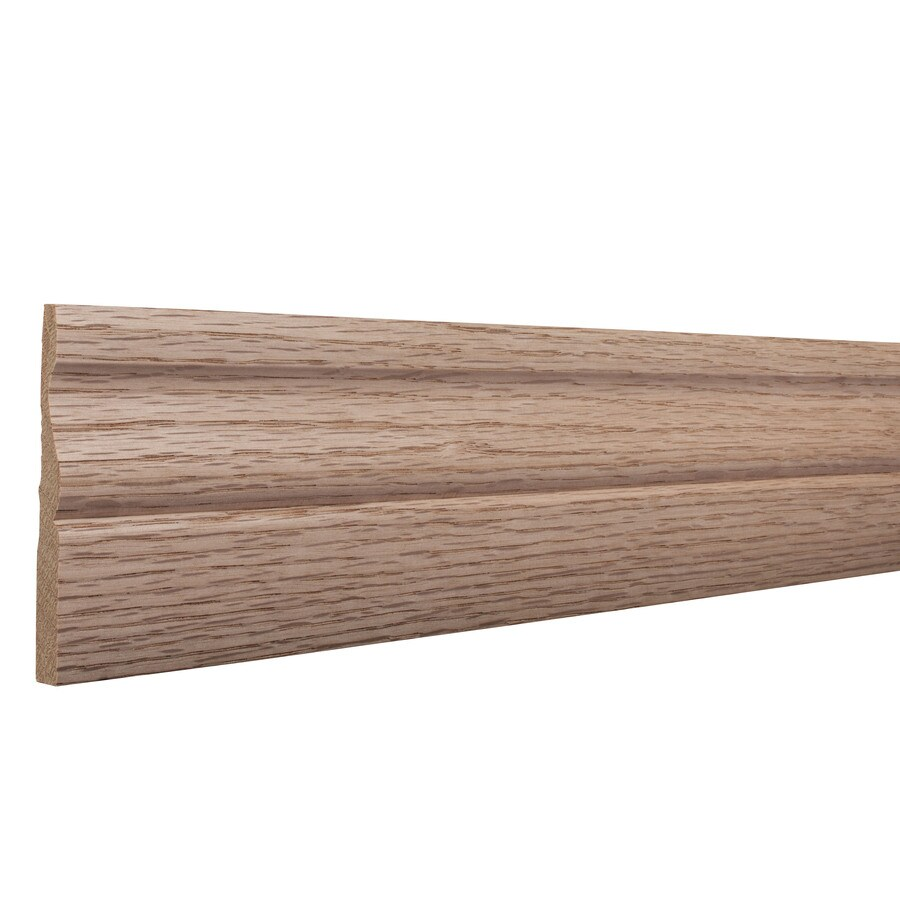 3.25-in x 8-ft Interior Oak Unfinished Baseboard Moulding