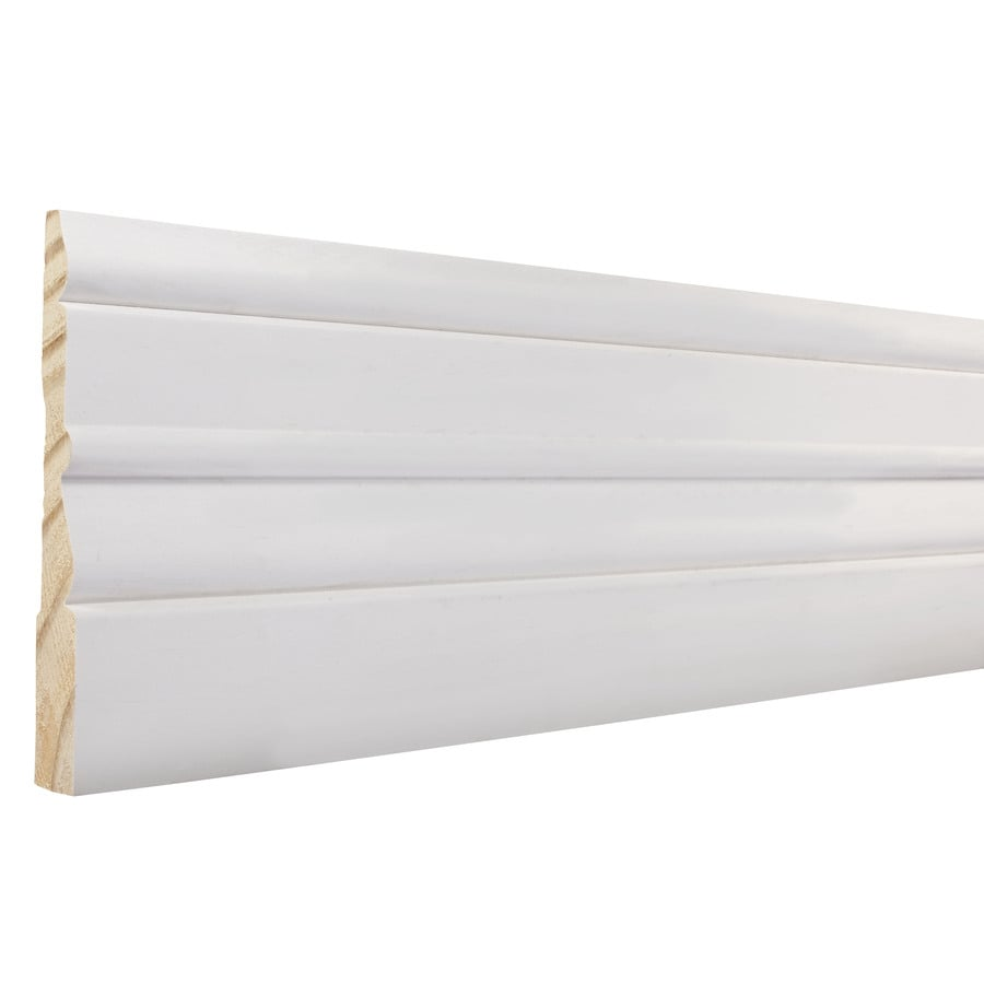4.5-in x 12-ft Interior Pine Primed Baseboard Moulding