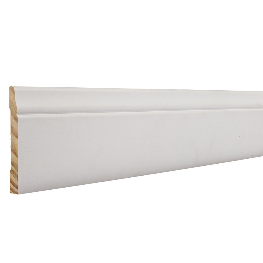 3-in x 8-ft Interior Pine Primed Baseboard Moulding