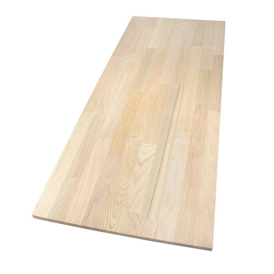 20-in x 4-ft Smooth Light Brown Oak Wall Panel