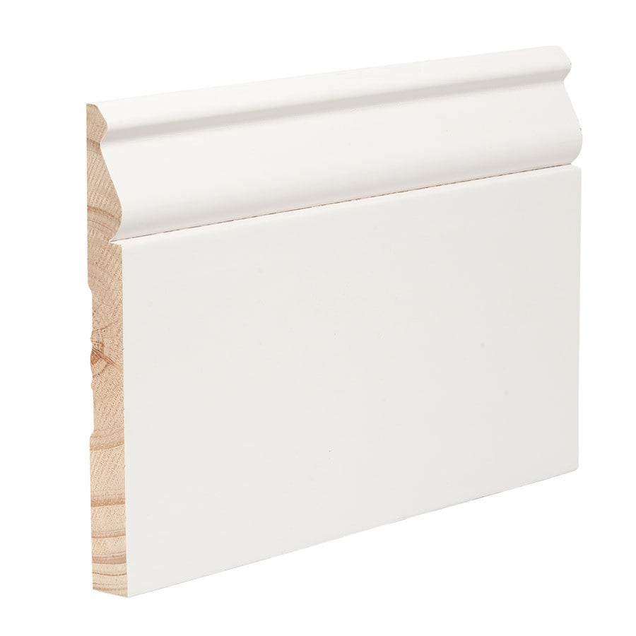 5.25-in x 16-ft Interior Pine Primed Baseboard Moulding