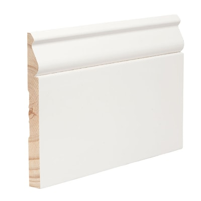 4-1/4-in x 16-ft Pine Primed Baseboard Moulding (Actual
