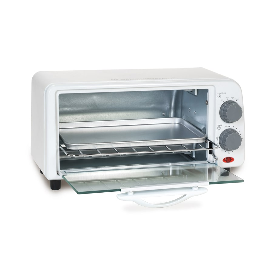Elite 2-Slice White Toaster Oven