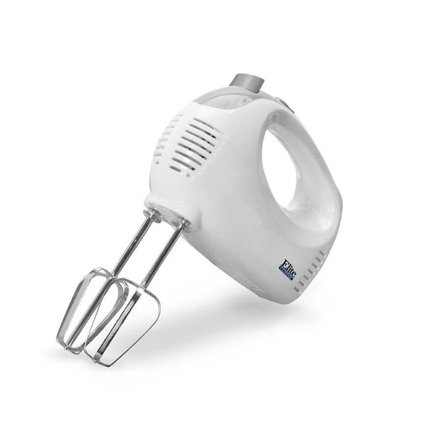 Elite Cuisine 24-in Cord 5-Speed White Hand Mixer