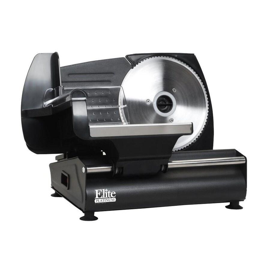 Elite 1-Speed Black Food Slicer
