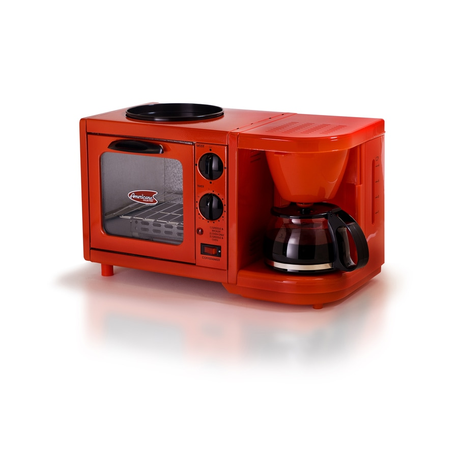 Elite 1-Slice Red Toaster Oven