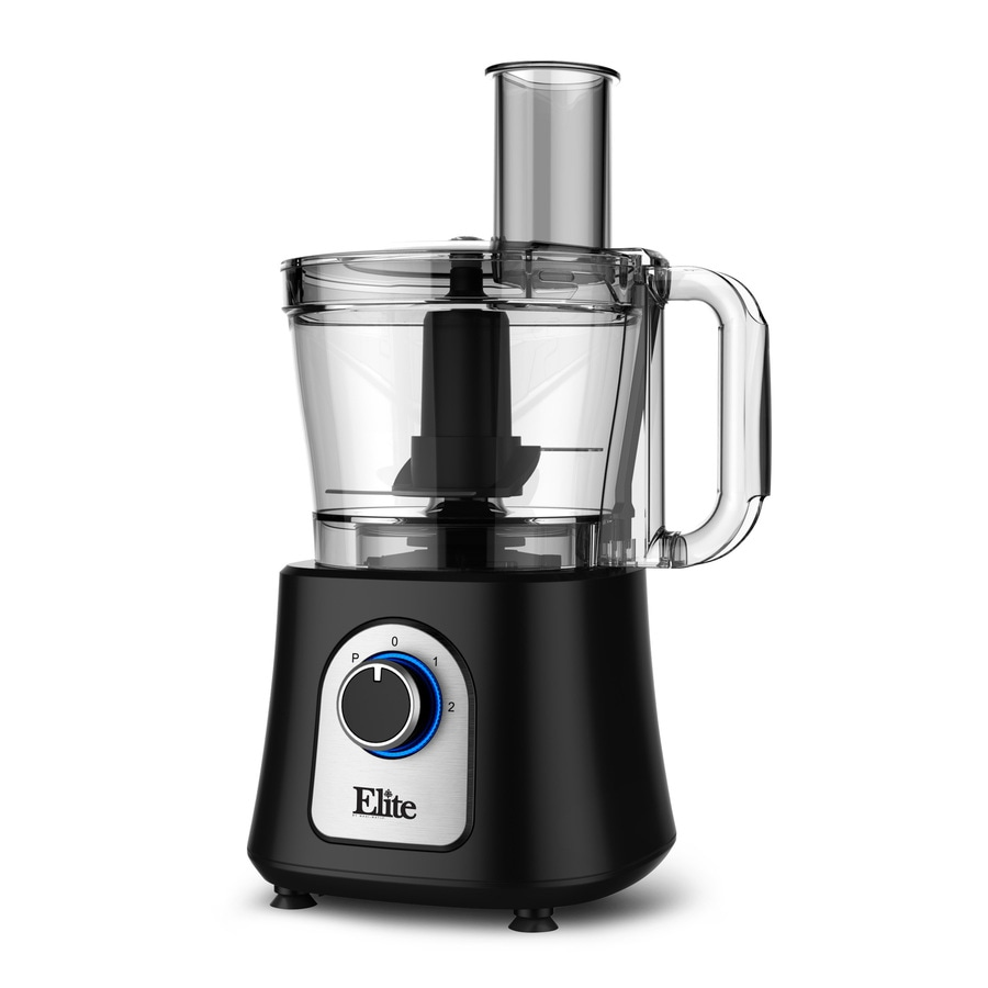 Elite 12-Cup 800-Watt Black 2-Blade Food Processor