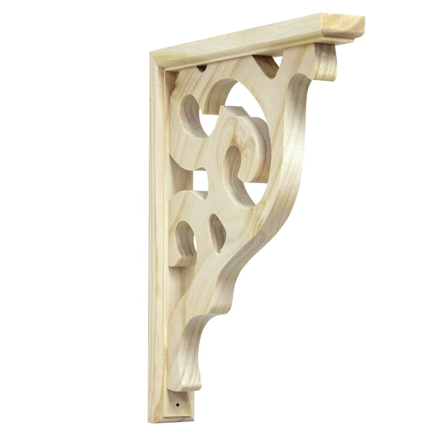 15 In X 12 Pine Unfinished Wood Corbel