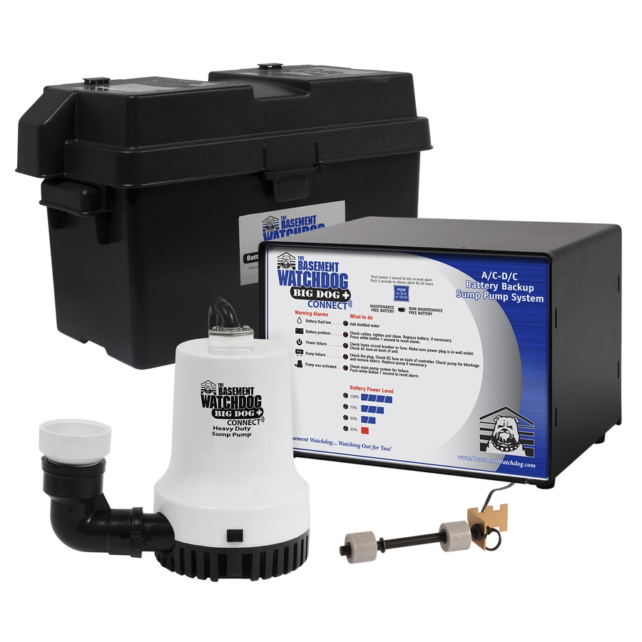 Basement Watchdog 0.33-HP Plastic Battery-Powered Sump Pump