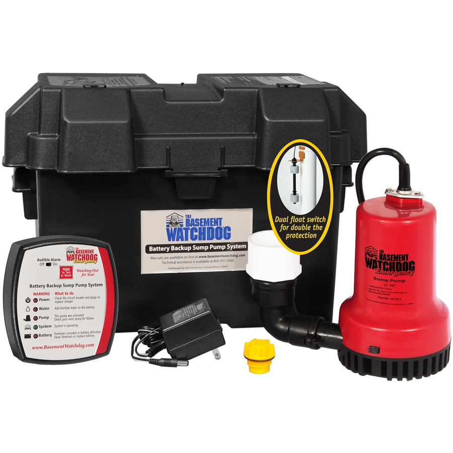 Basement Watchdog 0.25-HP Plastic Battery-Powered Sump