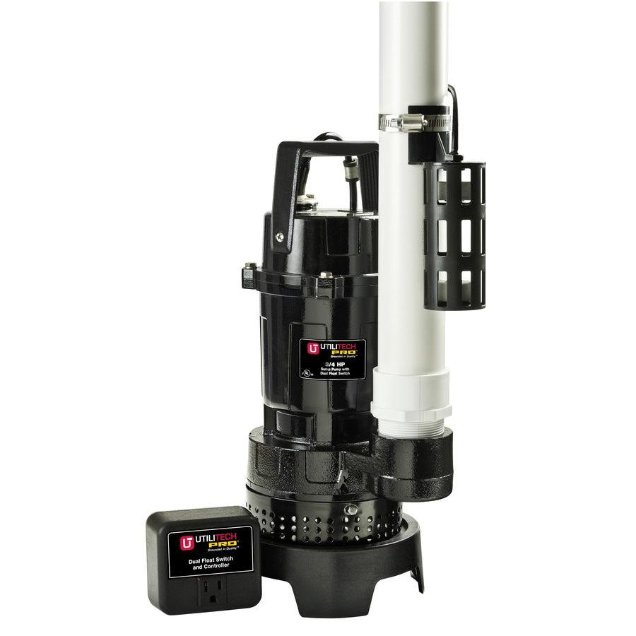 Utilitech 0 75 Hp Aluminum Submersible Sump Pump