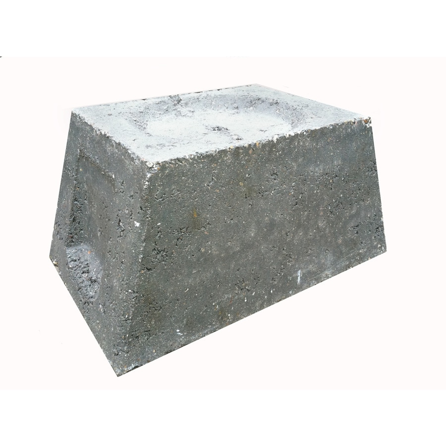 Concrete Block (Common: 10-in x 8-in x 15-in; Actual: 9.75-in x 7.50-in x 15-in)