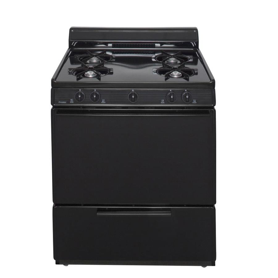 Premier 4-Burner Freestanding 3.9-cu ft  Gas Range (Black) (Common: 30-in; Actual: 30-in)