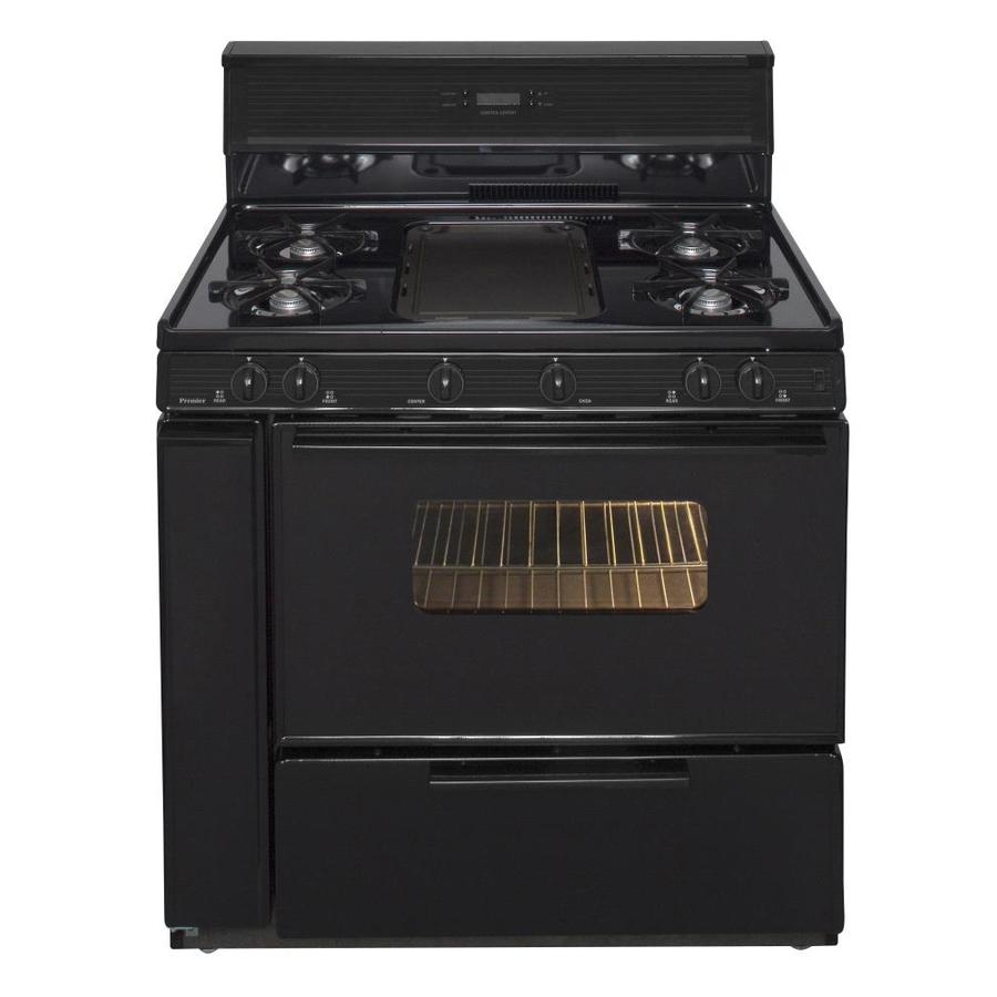 premier 5burner 39cu ft gas range black common