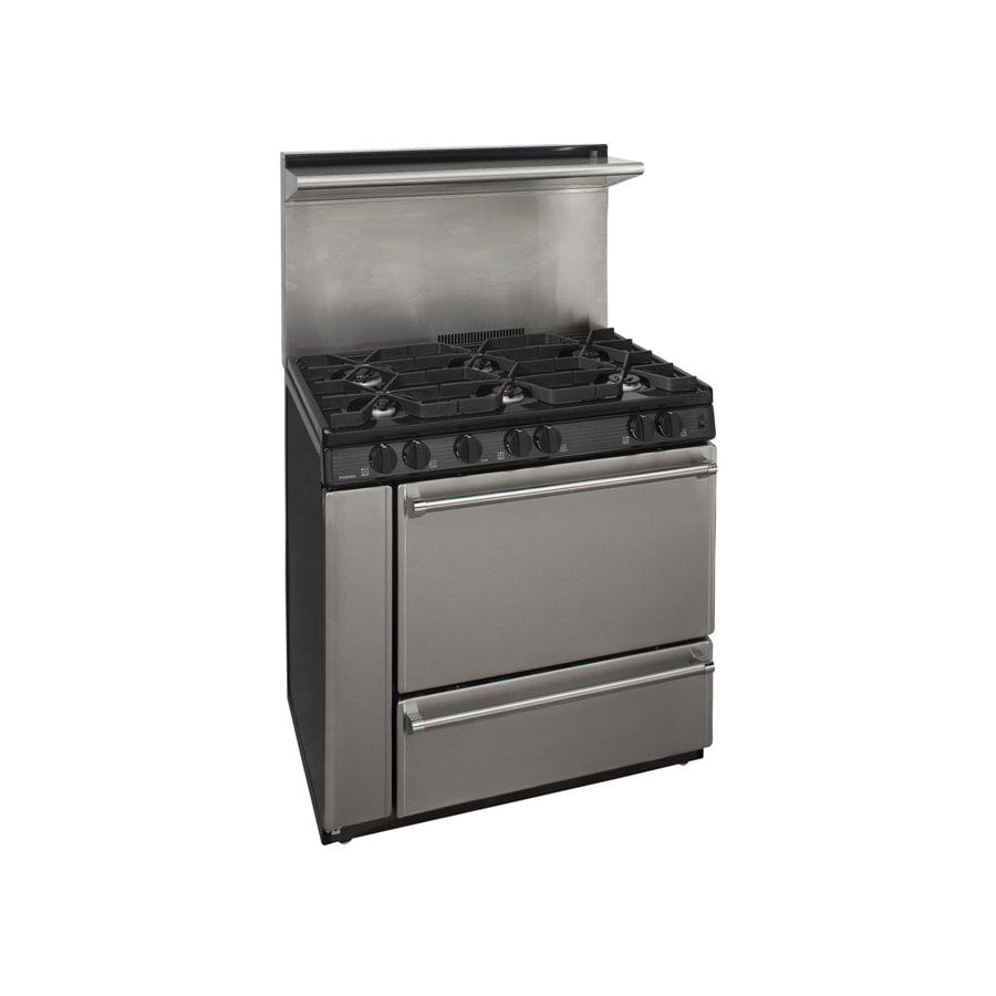 Premier 6-Burner Freestanding 3.9-cu ft Gas Range (Stainless Steel) (Common: 36; Actual: 36-in)