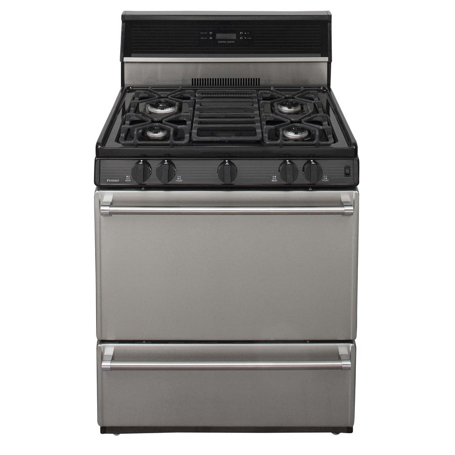 Premier Freestanding 3.9-cu ft Gas Range (Stainless Steel) (Common: 30; Actual: 30-in)
