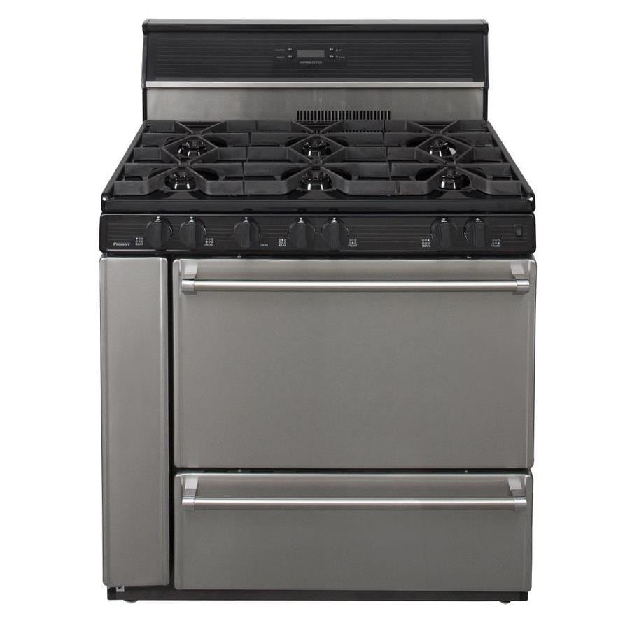 Premier 6-Burner Freestanding 3.9-cu ft Gas Range (Stainless steel) (Common: 36-in; Actual: 36-in)