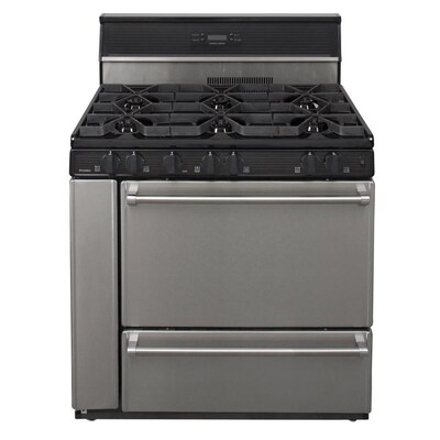 6 Burners 3 9 Cu Ft Manual Cleaning Freestanding Gas Range Stainless Steel Common 36 In Actual