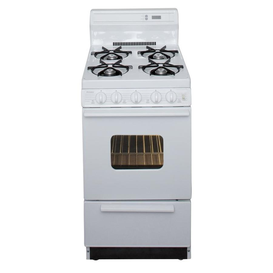 Premier Freestanding 2.4-cu ft Gas Range (White) (Common: 20-in; Actual: 20.125-in)