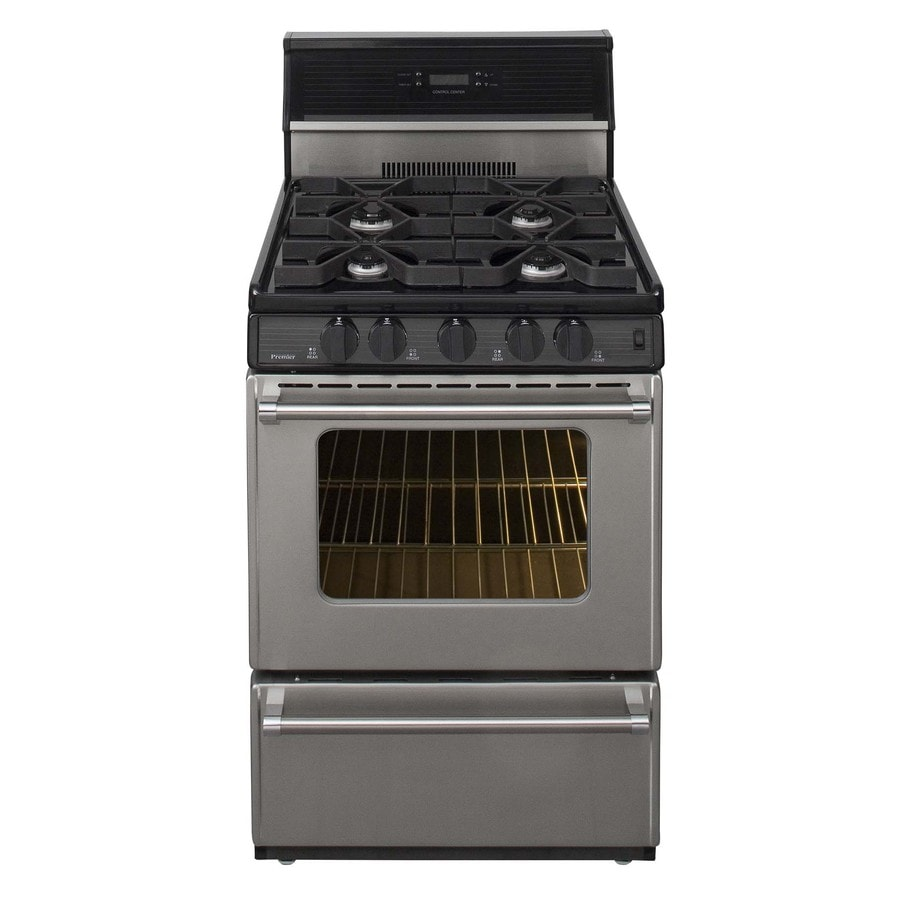 Premier Pro Freestanding 2.9-cu ft Gas Range (Stainless) (Common: 24-in; Actual: 24-in)