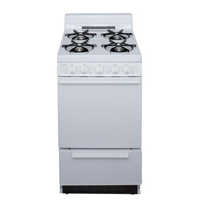 2.4-cu ft Freestanding Gas Range (White) (Common: 20-in; Actual: 20.125-in)