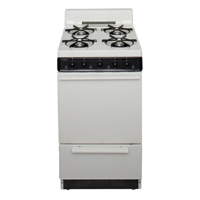 4 Burners 2.4-cu ft Manual Cleaning Freestanding Gas Range (Biscuit)  (Common: 20-in; Actual: 20.125-in)