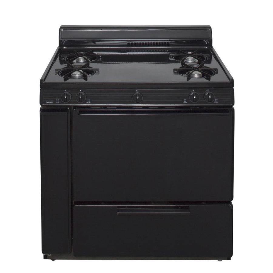 Premier 4-Burner Freestanding 3.9-cu ft  Gas Range (Black) (Common: 36-in; Actual: 36-in)