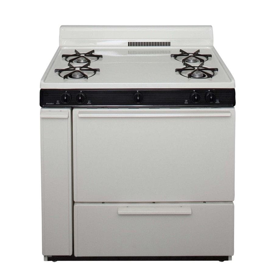 Premier Freestanding 3.9-cu ft Gas Range (Biscuit) (Common: 36-in; Actual: 36-in)