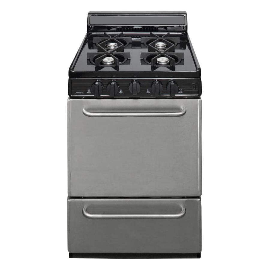 Premier 4-Burner Freestanding 2.9-cu ft  Gas Range (Stainless steel) (Common: 24-in; Actual: 24-in)