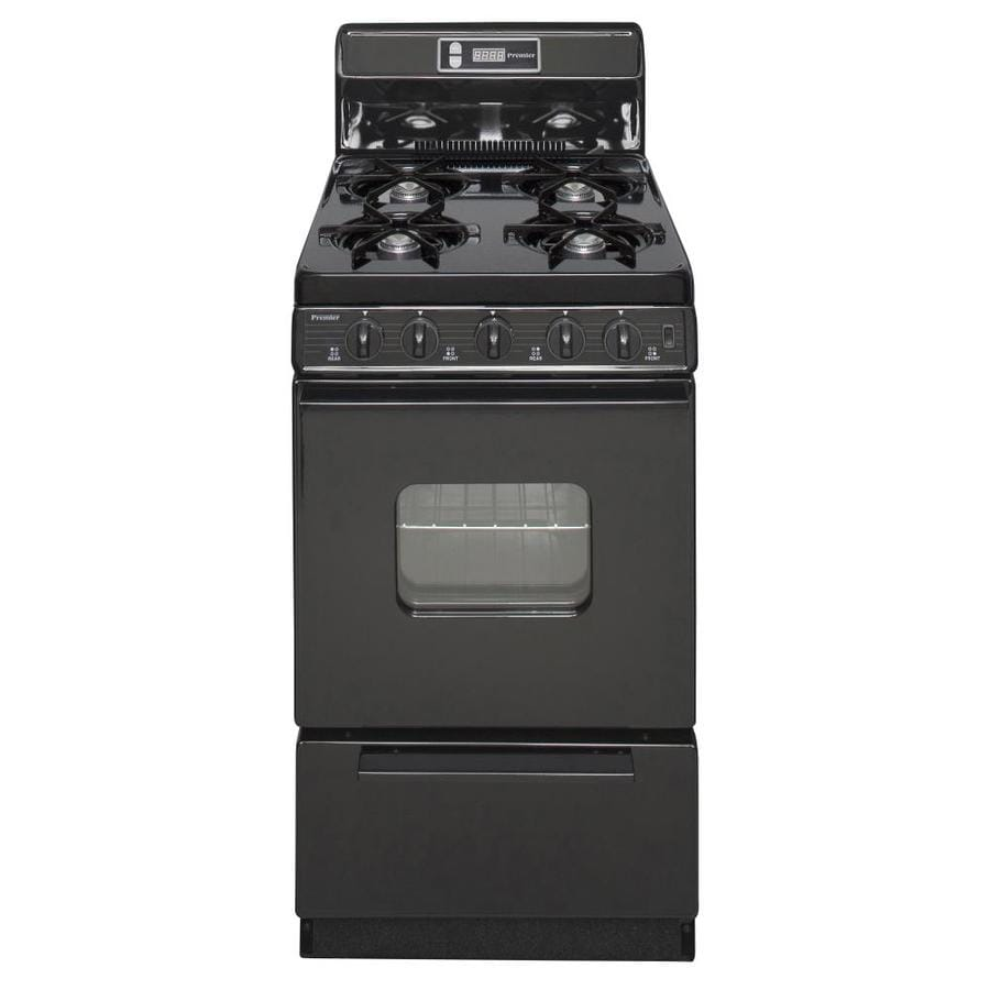 Premier 2.4-cu Ft Freestanding Gas Range (Black) (Common