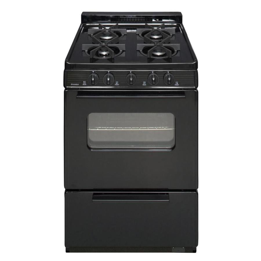 Premier 4-Burner Freestanding 2.9-cu ft Gas Range (Black) (Common: 24-in; Actual: 24-in)