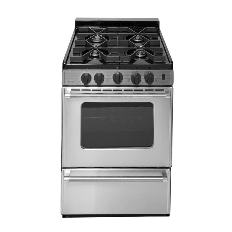 Shop Premier Freestanding 2 9 Cu Ft Gas Range Stainless