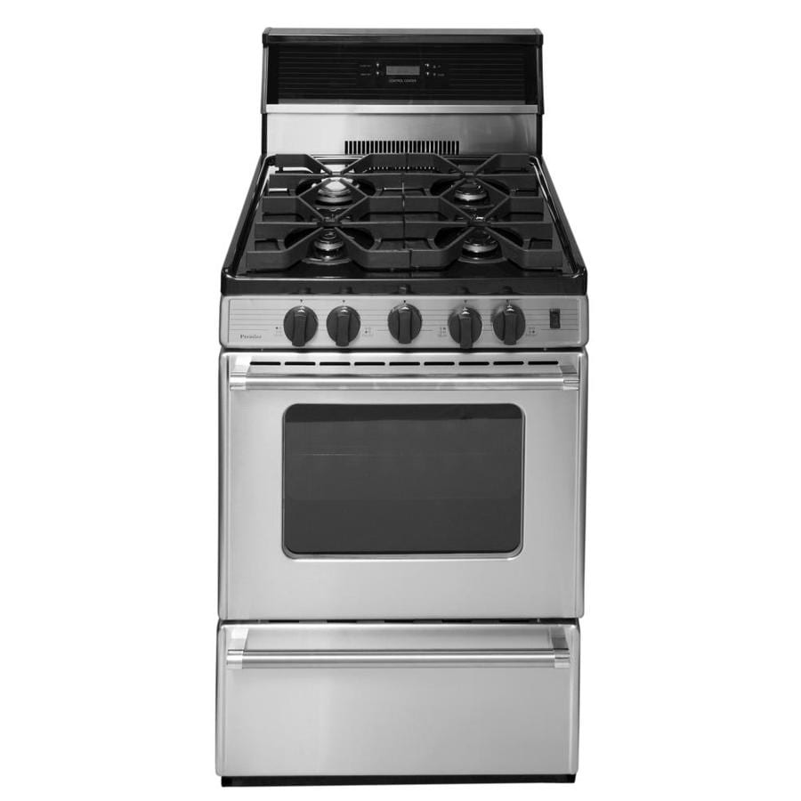 Premier Freestanding 2.9-cu ft Gas Range (Stainless) (Common: 24 Inch; Actual: 24-in)
